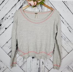 Free People Beach Crew Neck Sweater sz L
